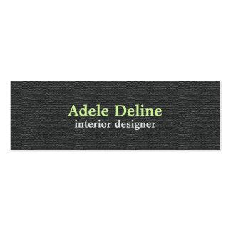 Minimalist Textured Dark Grey Interior Designer Mini Business Card