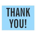 """[ Thumbnail: Minimalist """"Thank You!"""" Postcard ]"""