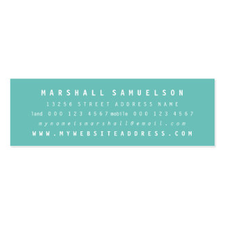 Minimalist Two Color Professional Skinny Cards Mini Business Card