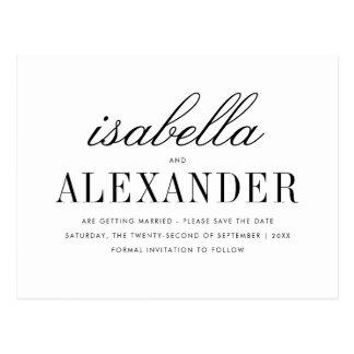 Minimalist Typography & Custom Photo Save The Date Postcard