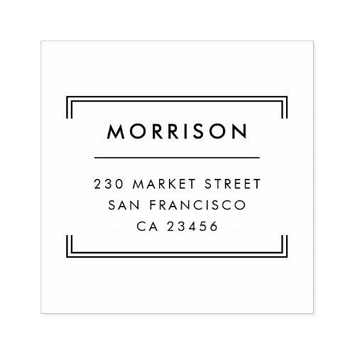 Minimalist Typography  Modern Return Address Rubber Stamp