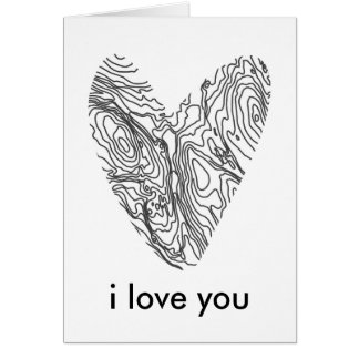 Minimalist Valentine's Day Heart Card