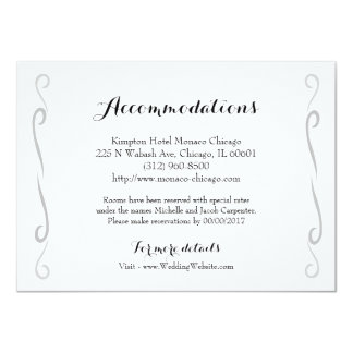 Minimalist Vintage Rose Wedding Accommodation Card