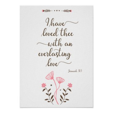 Minimalist wall art poster with bible love quote