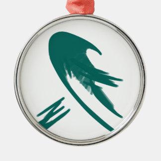 Minimalist Wave Simple Digital Art Ornament