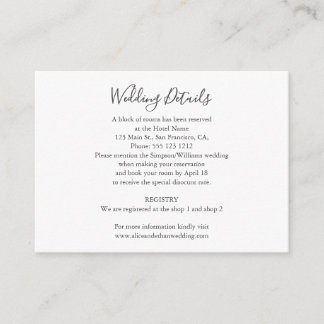 Minimalist Wedding Details with Photo Enclosure Card