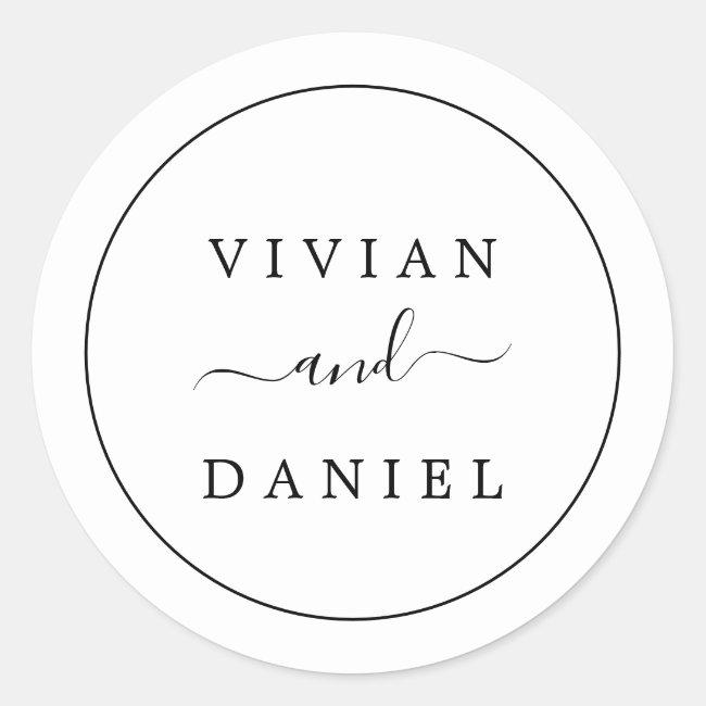 Minimalist Wedding Envelope Seals