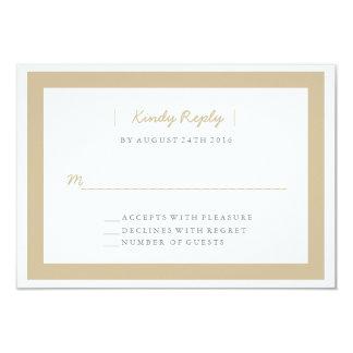 Minimalist Wedding RSVP | WEDDINGS Card