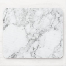 Minimalist White And Gray Marble Mouse Pad at Zazzle