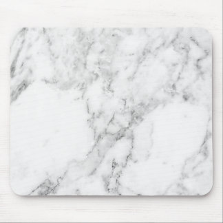 Minimalist White and Gray Marble Mouse Pad
