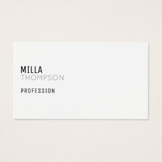 minimalist white business card for any profession