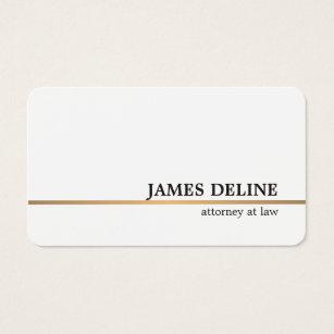 Attorney business cards 3300 attorney business card templates minimalist white copper line attorney business card colourmoves Images
