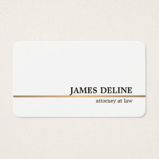 Minimalist White Copper Line Attorney Business Card