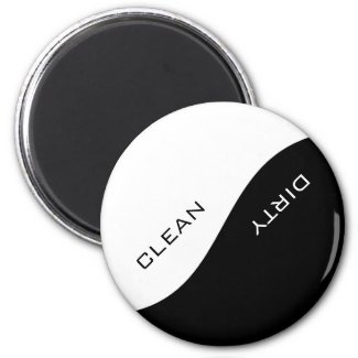 Minimalist White Custom Color Dishwasher Magnet