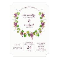 Minimalist Winery | Vineyard Wedding Invitation