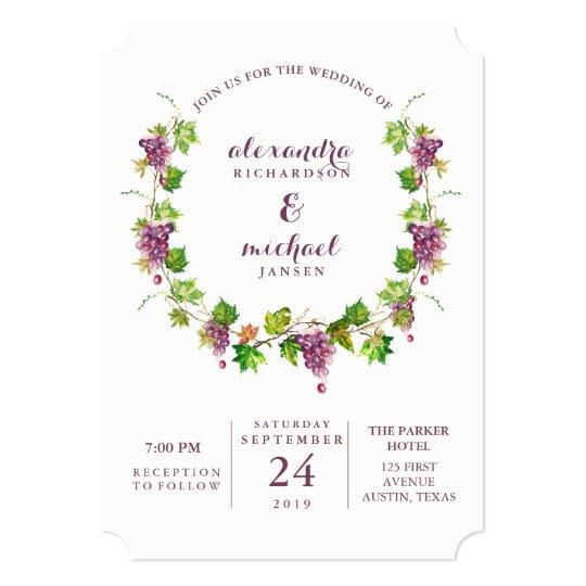 Minimalist Winery Vineyard Wedding Invitation Zazzle Com