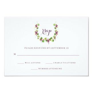 Vineyard Wedding RSVP Cards