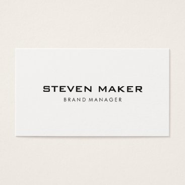 font themed Minimalist with Modern Font Business Card