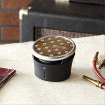Minimalist wood polka dots. bluetooth speaker