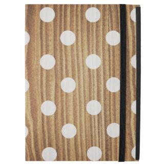 "Minimalist wood polka dots. iPad pro 12.9"" case"