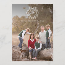 Minimalist Wreath | Joy Christmas Photo Holiday Card