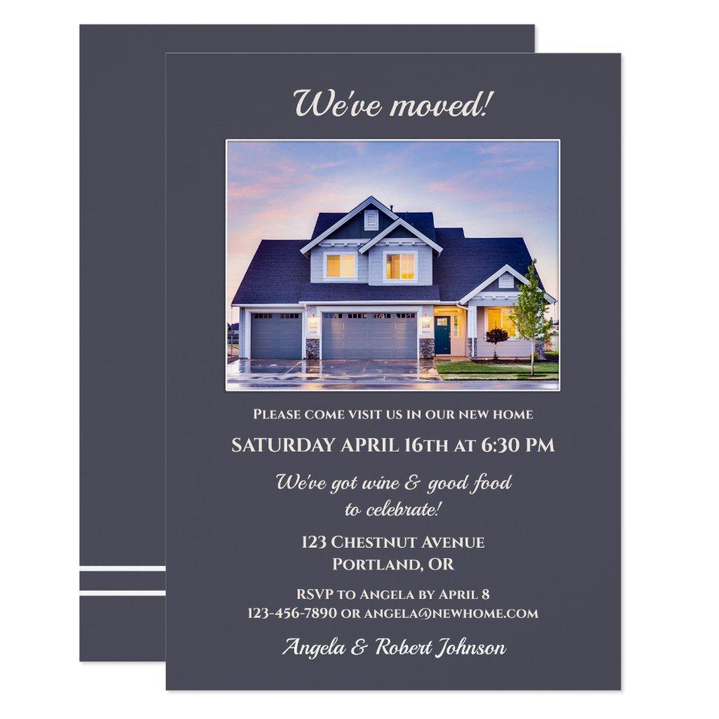 Minimalist Your Photo Housewarming Invitation