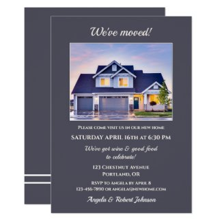 Minimalist Your Photo Housewarming Invitation