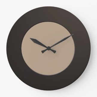 Minimalistic any Color No Digits on Black Frame Large Clock