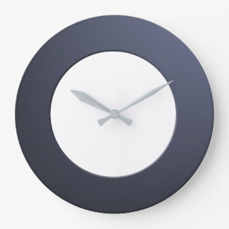 Minimalistic any Color No Digits on Blue Frame Large Clock