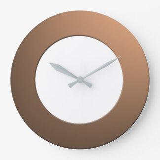 Minimalistic any Color No Digits on Brass Frame Large Clock