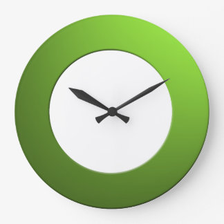 Minimalistic any Color No Digits on Green Frame Large Clock