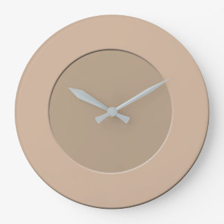 Minimalistic any Color No Digits on Latte Frame Large Clock