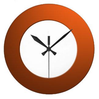 Minimalistic any Color No Digits on Orange Frame Large Clock