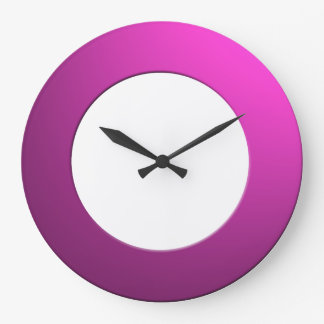 Minimalistic any Color No Digits on Pink Frame Large Clock