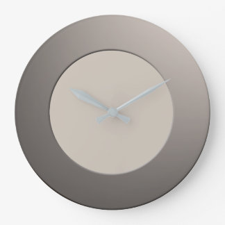 Minimalistic any Color No Digits on Silver Frame Large Clock