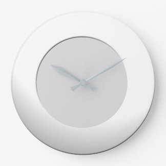 Minimalistic any Color No Digits on White Frame Large Clock