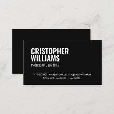 Minimalistic Black Professional Corporate Business Card