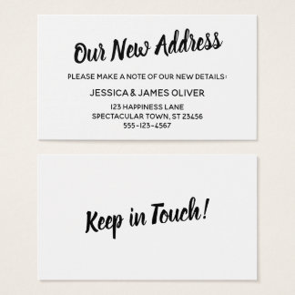 Minimalistic Bold Typography Our New Address Card