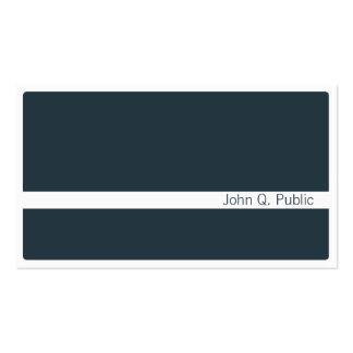 Minimalistic Dark Grey Blue Business Card