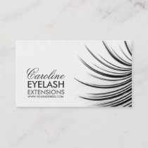 Minimalistic Eyelash Extensions Business Card