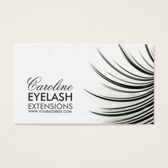 Minimalistic eyelash extensions business card for Eyelash extension gift certificate template