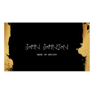 Minimalistic Gold Painting Vip Business Card