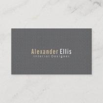 Minimalistic Gray Pindot Business Card