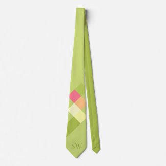 Minimalistic Green Squares and Monogram Tie
