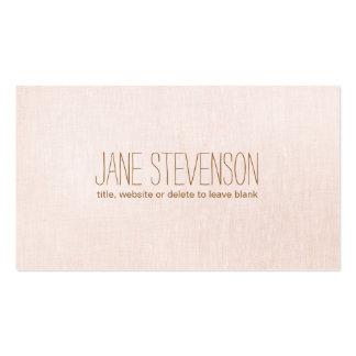 Minimalistic is Sweet Light Pink Linen Look Business Card Template