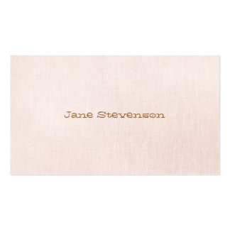 Minimalistic is Sweet Light  Pink Linen Look Double-Sided Standard Business Cards (Pack Of 100)