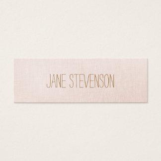 Minimalistic is Sweet Light Pink Linen Look Mini Business Card