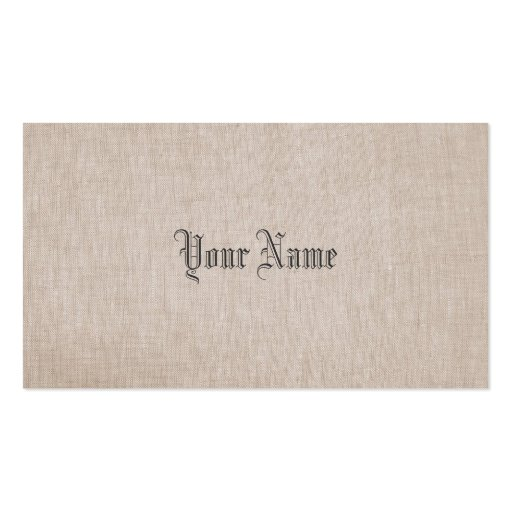 Minimalistic Linen Business Card
