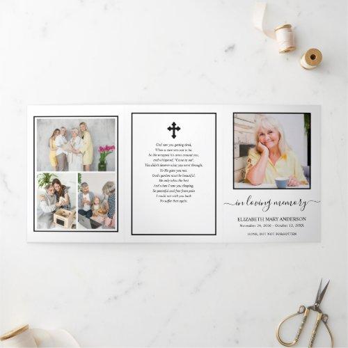 Minimalistic Memorial Funeral Tri-Fold Program