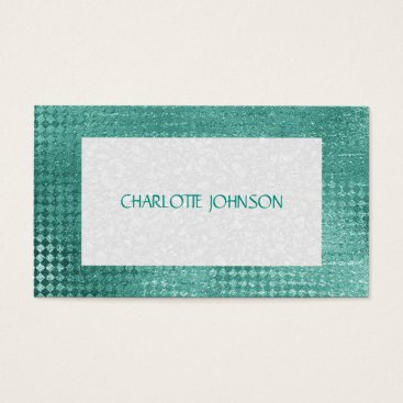 Professional Business Minimalistic Mint Green Vip Business Card